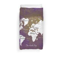 World Map Duvet Cover