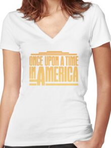 Once Upon A Time In America (1984) Movie Women's Fitted V-Neck T-Shirt