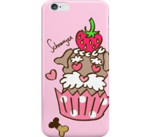 Schnauzer Cupcake - Pink iPhone Case/Skin