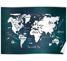 Oceans Life World Map Poster