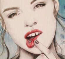 Girl Woman Sketch Vintage Sticker