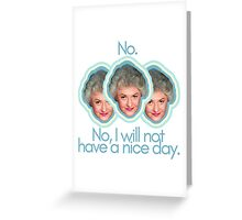 "Dorothy Zbornak Says ""Buzz Off"" Greeting Card"