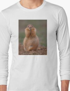 Prairie Dog with Funny Expression Long Sleeve T-Shirt