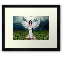 Beautiful angel graph Framed Print