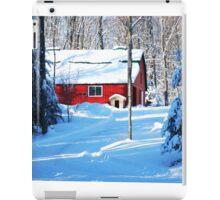 Red Barn in the Snow iPad Case/Skin