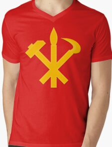 DPRK Workers Party Symbol Mens V-Neck T-Shirt