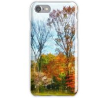 Tall Autumn Trees iPhone Case/Skin