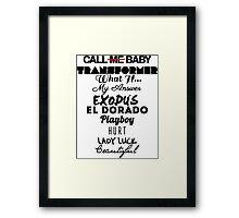 EXO: EXODUS Tracklist Typography Framed Print