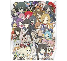 Chibi Anime Characters Poster
