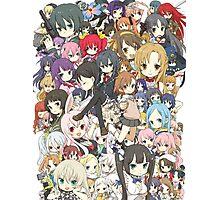 Chibi Anime Characters Photographic Print
