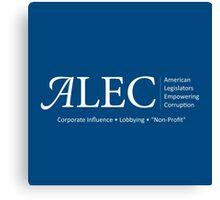Politics - ALEC Spoof Canvas Print