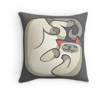 Boxed siamese cat Throw Pillow