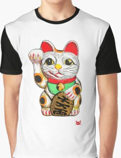Maneki-neko, Lucky Cat Graphic T-Shirt