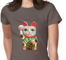Maneki-neko, Lucky Cat Womens Fitted T-Shirt