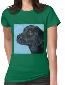 Black Labrador Puppy Womens Fitted T-Shirt