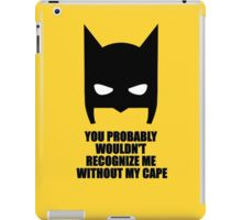 Recognize Me - Batman iPad Case/Skin