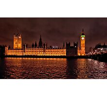 Westminster by Night Photographic Print