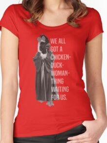 Chicken-Duck-Woman-Thing Women's Fitted Scoop T-Shirt