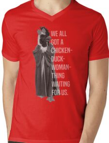 Chicken-Duck-Woman-Thing Mens V-Neck T-Shirt