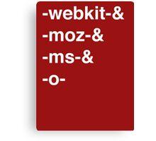 Web Browser Prefixing Canvas Print