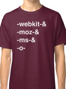 Web Browser Prefixing Classic T-Shirt