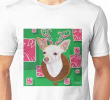 "Deer Head Chihuahua"" Unisex T-Shirt"