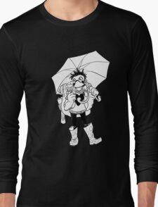 Raining Plastic (B&W) Long Sleeve T-Shirt