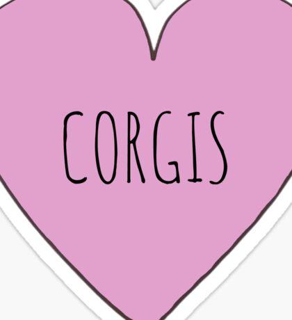 Corgi Love Sticker