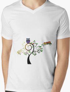 Woodland Owl Duvet Cover Mens V-Neck T-Shirt