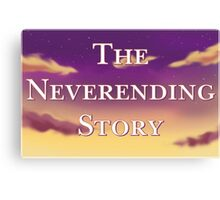 The Neverending Story Clouds Canvas Print