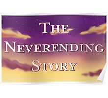 The Neverending Story Clouds Poster
