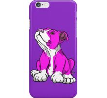 American Bull Terrier Puppy Pink  iPhone Case/Skin