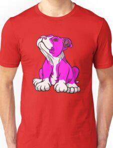 American Bull Terrier Puppy Pink  Unisex T-Shirt