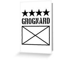 4 Star Grognard Greeting Card