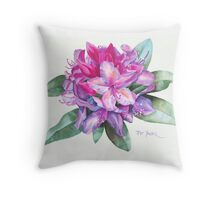 Washington Rhododendron Throw Pillow