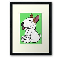 Mini Bull Terrier Lola  Framed Print