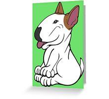 Mini Bull Terrier Lola  Greeting Card