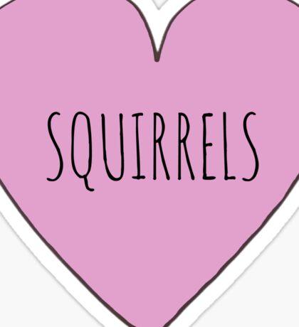 Squirrel Love Sticker