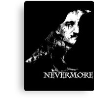 Nevermore (White Text) Canvas Print