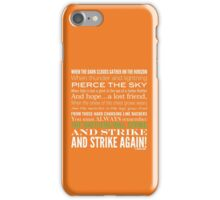 Green Strike Collection by Graphic Snob® iPhone Case/Skin