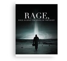 Interstellar - Rage Against the Dying of the Light Canvas Print