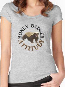 Honey Badger Attitude Women's Fitted Scoop T-Shirt