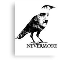 Nevermore (Black Text) Canvas Print