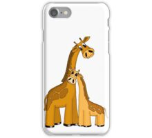 Momma giraffe and baby iPhone Case/Skin