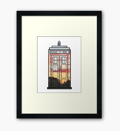 Sunset TARDIS Framed Print