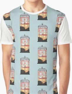 Sunset TARDIS Graphic T-Shirt