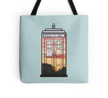 Sunset TARDIS Tote Bag