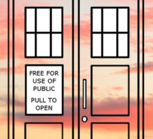 Sunset TARDIS Sticker
