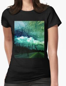 Exploding Sky (version 1) Womens Fitted T-Shirt