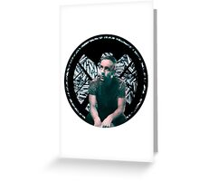 Lance Hunter Bullet SHIELD Logo Greeting Card